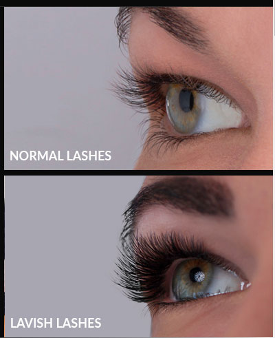 Lavish Lashes | before and after